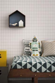 papier peint élégant petit rectangle droit pour chambre enfant bébé ferm living-001