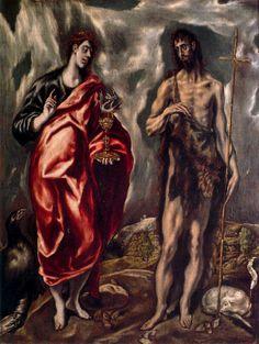 San Juan Bautista y San Juan Evangelista_ El Greco_.jpg (603×800)