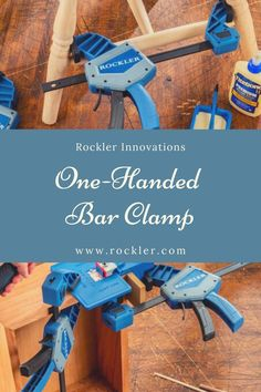 True one-handed action means you can use one hand to position your parts and the other to operate the clamp. Purchase yours today!  #rocklerinnovations #newatrockler #barclamp #onehandedclamp #onehandedbarclamp Rockler Woodworking, Woodworking Hand Tools, Wood Tools, Woodworking Shop, Box Joints, Finger Joint, Wood Dust, Tongue And Groove, Workshop