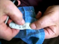 ▶ My dad the tailor - How to take up a pair of jeans - YouTube