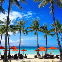 The view from the entrance of The District Boracay Philippines on White Beach in Station 2