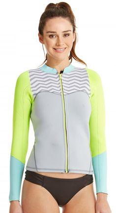 2mm Women's Roxy XY Wetsuit Jacket - Front Zip