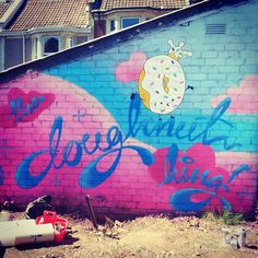 all hail... THE DOUGHNUT KiNG! #doughnut #HOSHiKO #streetart #graffiti #kawaii