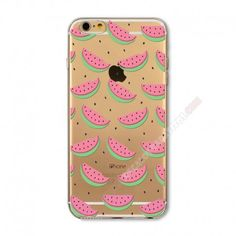 Carcasa trasparente divertida diseños frutos para iPhone 6 Plus/6S Plus