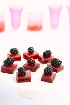 Sour Cherry & Plum Jello Shots: http://www.stylemepretty.com/living/2015/07/01/the-prettiest-patriotic-cocktails-for-the-4th-of-july/