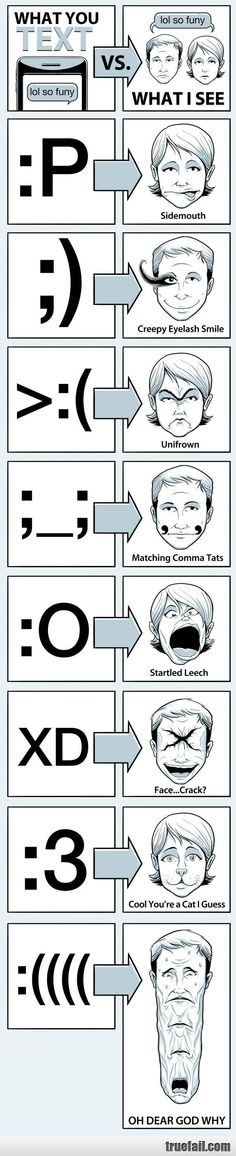 Why I always second guess emoticons. :) *Shakes head* Not like I just use one or anything.... Inconceivable!