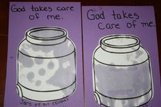 Jars of oil for the story of Elisha and the widow who God helped provide oil for.