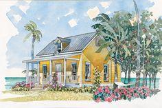 Cabins & Cottages Under 1,000 Square Feet: Beachside Bungalow Plan #1117