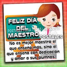 Postales Para Compartir.: FELIZ DÍA DEL MAESTRO..