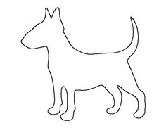 Use the printable outline for crafts, creating stencils… Applique Patterns, Applique Quilts, Craft Patterns, Applique Designs, Quilt Patterns, Dog Template, Templates, Dog Stencil, Felt Dogs