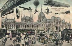 Budapest V. Big Ben, Louvre, Building, Painting, Travel, Design, Budapest Hungary, Postage Stamps, Kunst