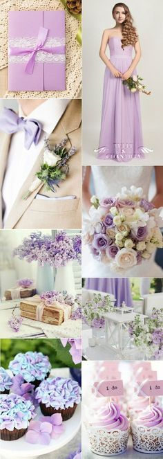shabby chic lilac light purple wedding ideas: