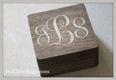 Monogrammed Box by: theDIYvillage.com