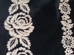Vintage Spitze - +❤  Spitzenmuster best.Tüllspitze/ ca.1920+ RAR - ein Designerstück von mypatchworld bei DaWanda Lace Trim, Brooch, Etsy, Jewelry, Fashion, Vintage Lace, Moda, Jewlery, Jewerly