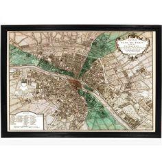 1740 Map of Paris, France