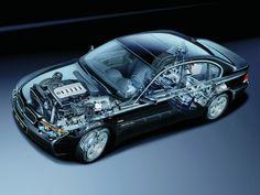 2002-2005 BMW 730d (E65) - Illustration unattributed