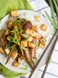 Vegan Entree Recipes, Tofu Recipes, Delicious Vegan Recipes, Vegan Dinners, Asian Recipes, Cooking Recipes, Healthy Recipes, Chinese Recipes, Weeknight Recipes