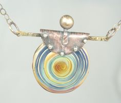 Shoply.com -Mama EarthCircles Necklace - Mixed Metal, Sterling and Copper. Only $99.95