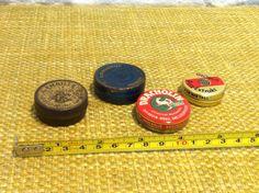 Vintage Seltene kleine Blechdosen mit alter Werbung von Antikladen auf Etsy