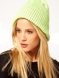 827514ece02 Getting ready for the gym - Outfit Keeps warm and ads a splash of colour  ASOS Neon Knit Beanie