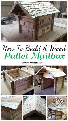 How To Build A Wood Pallet Mailbox | 99 Pallets - #mailbox tutorial 100% from #Pallets