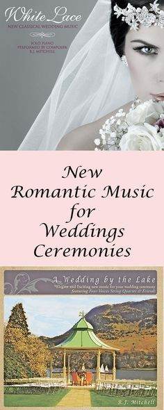 Every bride wants her wedding to be unique. It's easy with new music! Listen to this elegant music performed by  string quartet, harp, flute and piano. Available on CD, Mp3 and sheet music for endless combinations.