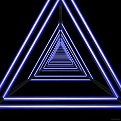 Psychedelic ambient trance gif of psychedelic vaporwave triangles Op Art, Gifs, Images Gif, Retro Waves, Animation, Stage Design, Psychedelic Art, Neon Lighting, Light Art