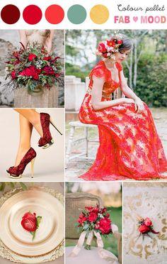 Gold & Red Wedding Inspiration   fabmood.com