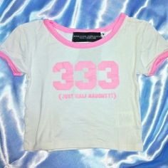 O-mighty crop top Cute 333 (just half naughty) crop. Only worn once, no stains or signs of wear. So perfect for festivals! Or just casual wear! Fits true to size. Soooo soft and comfortable o-mighty Tops Crop Tops
