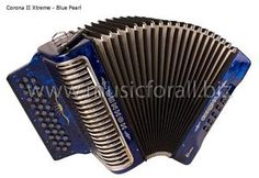 NEW Hohner Corona II Xtreme No Switch Accordion CXEW with Gig Bag, Straps, and Instruction Booklet - Key EAD, Blue - Free Ship to USA - Cheap Worldwide Shipping! http://stores.ebay.com/music-for-all-03   http://www.musicforall.biz/