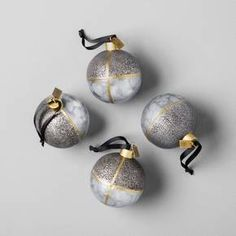 Farmhouse meets modern in this Galvanized Finish Ornament Set from Hearth & Hand™ with Magnolia. Classic ball ornaments are given a handmade look with their steel construction and metal welding. These metal ornaments will shine as they catch the light on your Christmas tree and will last for years of holiday decorating.<br><br>Celebrate the everyday with Hearth & Hand — created exclusively for Target in collaboration with Magnolia, a home and lifestyle b...