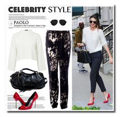 """""""Celebrity in PaoloShoes"""" by spenderellastyle ❤ liked on Polyvore featuring Kerr®, Topshop, Roberto Cavalli and 3.1 Phillip Lim"""