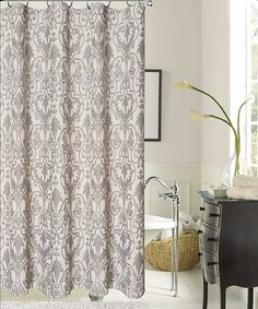 Classy Shower Curtain jcp | queen street® bianca damask shower curtain | remodel