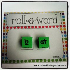 Miss Kindergarten: DIY Foam Dice--- Cheap and easy center to set up using foam cubes from the Dollar Store!