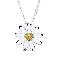 Daisy Jewellery Silver Gold Plated 15mm Daisy Pendant N4003G-P