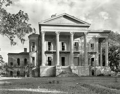 The abandoned Belle Grove mansion in White Castle, LA. These photos were taken in 1938, years after its abandonment. When it was built in 1857 it was the largest mansion in the south and comprised of more than 75 rooms. It has since burned to the ground..