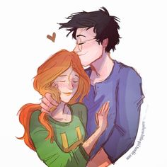 "Anything and everything about Harry James Potter and Ginevra (""Ginny"") Molly Weasley from JK Rowling's Harry Potter series. Harry Potter Disney, Harry Potter Ships, Harry Potter Fan Art, Harry Potter Universal, Harry Potter Memes, Lily Evans, Scorpius And Rose, Gina Weasley, Harry And Ginny"