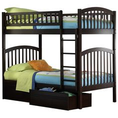Richmond Twin over Twin Bunk Bed - Kids Trundle Beds at Hayneedle