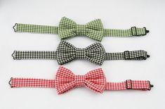 Boys Bow Tie, Gingham Check, Green Check Bowtie, Red Check Bow Tie, Black Check Bowtie, Baby Boys, Toddler Boys,  Photo Prop