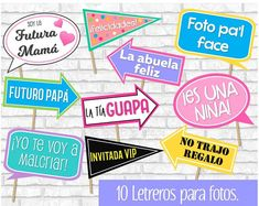 Baby Shower photo signs for boys. Baby shower signs in Spanish. - Baby Shower photo signs for boys. Moldes Para Baby Shower, Fotos Baby Shower, Baby Shower Photo Booth, Baby Shower Photos, Baby Shower Signs, Baby Photos, Juegos Baby Shower Niño, Dibujos Baby Shower, Imprimibles Baby Shower