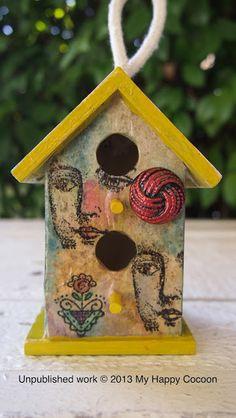 cute bird house, work of art.
