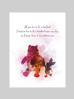 ART PRINT Winnie the Pooh and Piglet Quote illustration