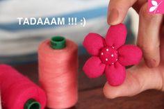 DIY Barrette à cheveux - Fleur en tissu