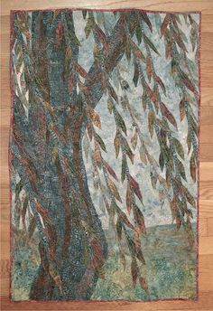 Willow Tree Wall Hanging / Art Quilt by redcedarapparel on Etsy, $250.00