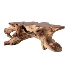 The Atlantis Coffee Table preserves the natural live edges on each unique table for a one of a kind modern rustic addition to you home.