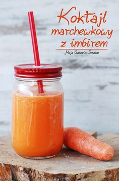 Carrot ginger smoothie (in Polish with translator) Ginger Smoothie, Smoothie Drinks, Healthy Smoothies, Jacque Pepin, Carrot And Ginger, Milkshake, Dairy Free, Carrots, Cocktails