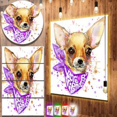 nice Designart 'Cute Puppy Dog with Neck Shawl' Contemporary Animal Art Metal Wall Art Check more at http://hasiera.co.uk/s/furnishings/product/designart-cute-puppy-dog-with-neck-shawl-contemporary-animal-art-metal-wall-art/