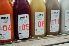 A Sampling Of Juices From Juice Served here | Los Angeles, I'm Yours