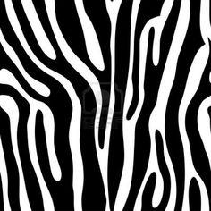 Seamless tiling animal print zebra, vector illustration