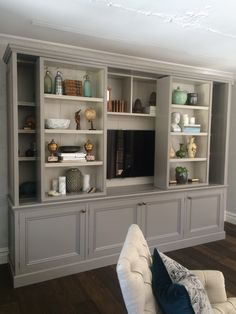 Living Room Layout with Sectional . Living Room Layout with Sectional . Living Room Built In Cabinets, Living Room Built Ins, Living Room Wall Units, Bookshelves In Living Room, Bookshelves Built In, Room Shelves, New Living Room, Living Room Designs, Living Room Decor